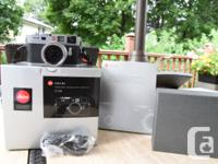 Selling Leica M9 Silver in original box with