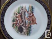 Six LENOX collectible plates from the Woodland Wildlife
