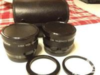 1.5 x telephoto lens and 0.55 x broad angle lens.