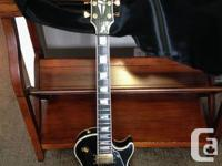 Beautiful 2000 Les Paul Custom in black with gold