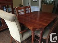Beautiful Lexington made Dining table with two extra