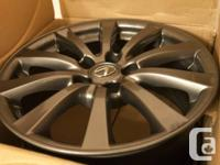 -A set of four used rims from 2007 IS250 AWD
