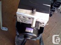 Used Antilock brake actuator/pump Assy with matching