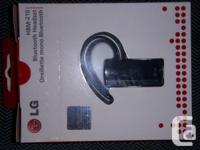 LG BLUETOOTH HEADSET - almost new, in box, model