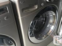 Side by side, largest capacity washer and dryer