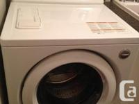 Selling my 9 year old front loading washer and dryer