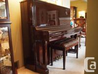 Liebermann Baby Grand Piano and Piano Bench Model #
