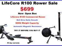 Lifecore R100 Commercial Rower,Rowing Machine,New open