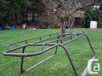 Aluminum rack, powder coated. Custom built by Lifetimer