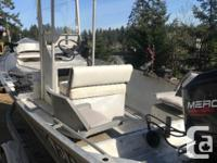 Newer easy loader trailer. 1996 75 merc with a service