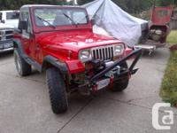 I'm selling my 88yj due to needing a truck for work,