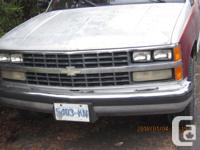 Make Chevrolet Model 1500 Year 1989 Colour red and