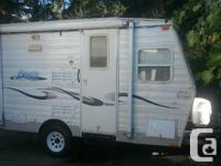 16' trailer easy to tow with small truck or SUV for gas