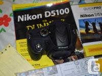 Used, I'm selling my lightly used Nikon D5100 body with some for sale  Quebec