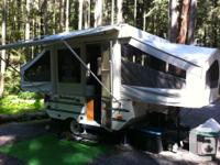 Super clean, well-loved compact tent trailer weighs