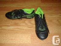 I have a pair of Like New Black Leather Soccer Cleats