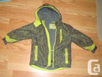 I have a Like New Coat Grey Yellow Size 4 Toddler