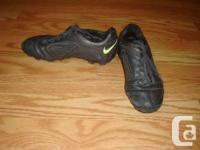 I have a pair of Like New Nike Black Leather Soccer