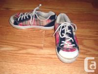 I have a Like New Pink Plaid Runners Running Shoes Size