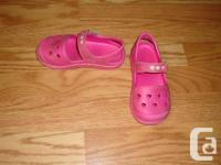I have a pair of Like New Pink Water Shoes Sandals Size