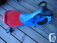 I have a Like New Red & Blue Plasma Car for sale! This