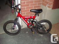 """I have a Like New Red Schwinn Bike 16"""" Wheels for sale."""