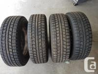 4 Toyo winter tires 195/65R15 on 5-hole rims. Used 1
