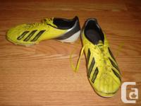 I have a pair of Like New Yellow Leather Soccer Cleats