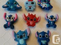 Set of 8Lilo & Stitch shoe charms for Crocs or as