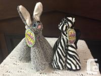 Collectible Blue eyed rabbit with bendable ears and for sale  British Columbia