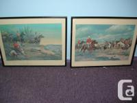 For sale this two frames, Lithograph ; The March West