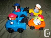 I have for sale by little people, 2 tow trucks and 2