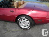 Make Chevrolet Model Corvette Colour Red/Burgundy