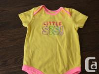 Little Sibling short sleeve onesie $2. Grab Woodroffe