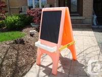 Little Tikes Easel & Blackboard With Removable Trays. -