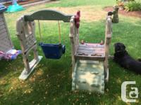 Little Tikes swing, slide & climber. In good condition