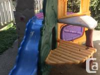 Little tikes playground with slide and spaces to crawl