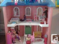 Little Tykes My Size Dollhouse + -24 Barbie Dolls -15