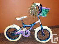 Little Girls Pixie Dirt Metallic Blue/Purple Bike