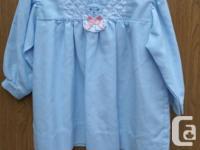 Girls blue Dress size 24M 65% POLYESTER 35% COTTON MADE