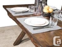 "Beautiful ""Live Edge Design"" dining set made with solid"