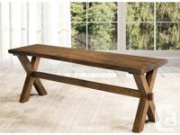"""Beautiful """"Live Edge Design"""" dining set made with solid"""