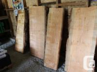 I have a bunch of live edge fir slabs for sale. The