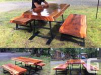 Husband and wife team making Rustic Live Edge furniture