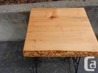 Live edge maple table Dimensions 23.5 long x 22.5 Deep
