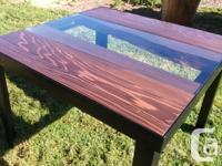 Beautiful live edge red cedar dining table. 3' x 3'