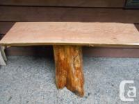 The urban style live edge look for outdoor furniture is