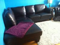 Living room for sale - 2 piece sectional dark brown
