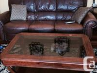All pieces pictured included (love seat, sofa, chair,