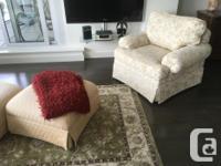 Custom built furniture 1 estate sofa, 2 estate chairs,2